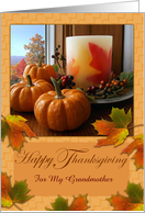 Custom Thanksgiving for Grandmother, Autumn Still LIfe card