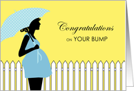 Congratulations on Your Bump, Pregnancy, Expecting a Boy in Blue card