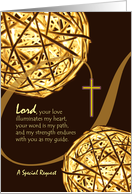 Invitation for Godfather, Religious Theme, Spheres of Light and Cross card