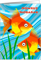 Nowruz Mobarak, Persian New Year, Farsi, Goldfish card