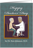Happy Doctors' Day, Add a Name, Heart Beats, Doctor and Patient card