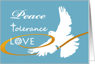 Eastover, Interfaith Passover, Peace, Tolerance, and Love card
