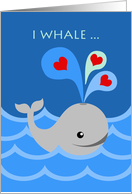 I Whale Always be Your Valentine, Whale and Hearts card