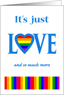 Mother's Day for Mom, It's Just Love, LGBT Rainbow Heart card