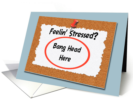 Funny Administrative Professional, Stressed Sign card (605467)