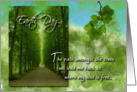 Earth Day Path Amongst Trees card