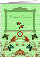 Congratulations on Reconciliation, Butterflies and Swirls card