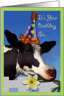Funny Cow Birthday For Sister card