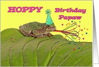 Hoppy Birthday Papaw, Missouri Tree Frog Partying card