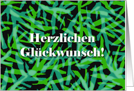 Congratulations in German, Herzlichen Gluckwunsch, Abstract card