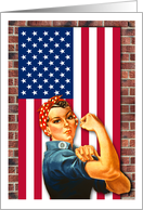 Labor Day, You Did It Now Enjoy, Rosie the Riveter card