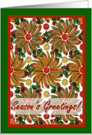 Season's Greetings, Hot Dogs and Condiments Arrangement card