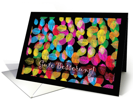 Gute Besserung, Get Well in German, Colorful Leaves card (712641)