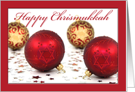 Chrismukkah Ornaments, Star of David Embellished Decorations Interfaith card