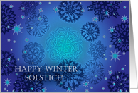 Winter Solstice, Snowflakes and Stars card