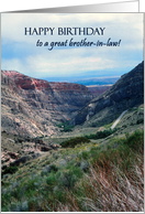 Birthday Card for Brother in Law, Big Horn Mountains and Sky card