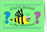 Gender Reveal Party Invitation, Bee Surprised card