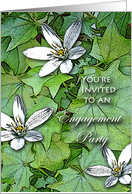 Engagement Party Invitation, Flowering Ivy card
