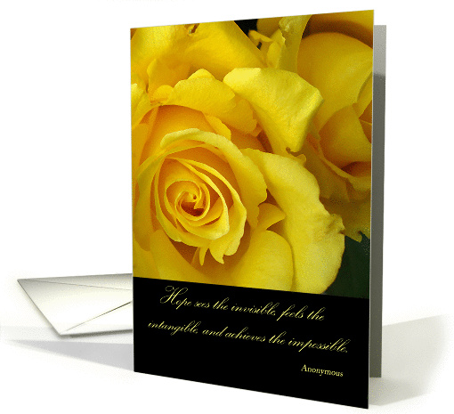 Sending Hope for a Cancer Patient, Yellow Roses card (868991)