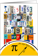 Pi Day 3.14159 for Twin Sister, Numbers & Equations card