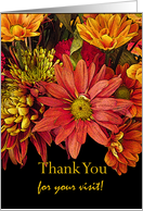 Thank You for Visiting Me in the Hospital, Flower Arrangement card