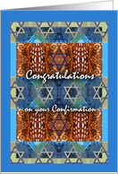 Jewish Confirmation Congratulations for Girl, Star of David card