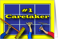 Thank You for #1 Caretaker, Tools of the Trade Illustration card