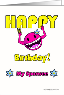Funny Birthday for Sponsee, Stuck on Happy card