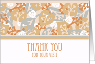 Thank You for Visiting Hospital, Leaf and Plant Shapes card