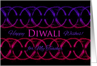 Diwali Wishes for My Teacher, Circular Sparklers Design card