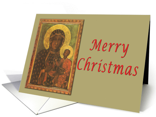 Our Lady of Czestochowa Merry Christmas card (241720)
