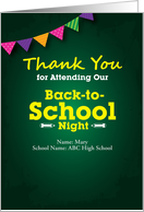 Thank You for Attending Our Back-to-School Night, Colorful Flag card