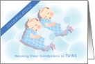 congratulations on becoming great grandparents to twins, boys card