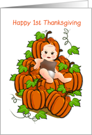 happy 1st thanksgiving, baby card