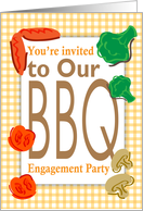 You're invited to our BBQ engagement party card