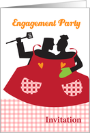 engagement party invitaion, BBQ theme card