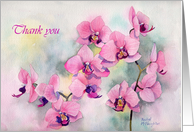 Thank you bridesmaid orchid card