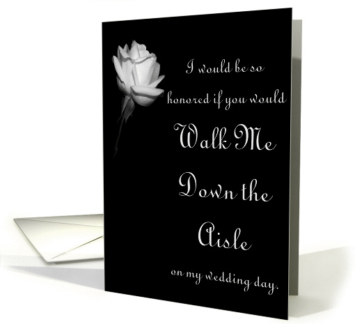 Wedding - Walk Me down the aisle card (290518)