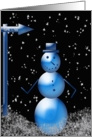 Snowman - Merry Christmas card