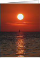 Birthday, for him, Sailboat In sunset card
