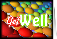 Get Well, colorful abstract card