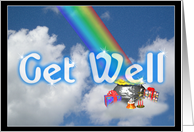 Get Well Rainbows card