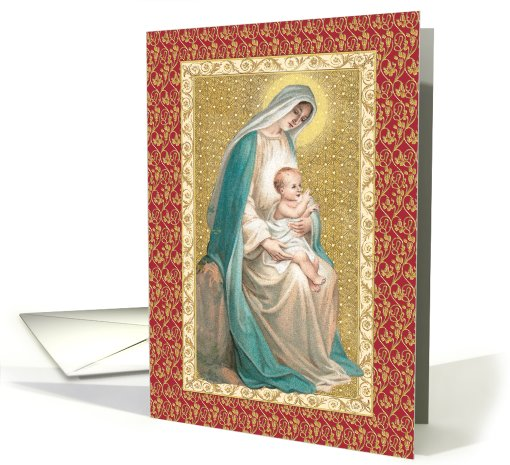Madonna and Child card (252942)