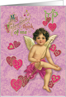 My Valentine think of me card