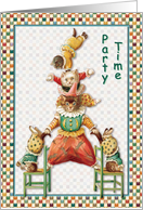 Kitty Circus Party Time card