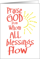 Friendship Praise God card