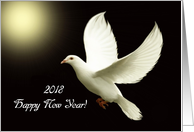 2018 Happy New Year / White Dove card