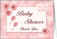 Baby Shower / Thank You / Girl card