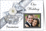 Wedding Invitation Photo Card ~ Add Your Photo & Text card