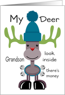 Deer Grandson Reindeer card